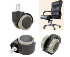 5PCS bureau chaise caoutchouc souple roulette roue pivotante parquet Funiture remplacement