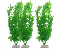 Buyiesky®3 Piece Poissons D'aquarium Plantes Artificielles Réservoir En Plastique Vert 10.6? Hauteur
