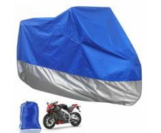Housse Moto Scooter Bleu Argente Taille Xl Protection Exterieur Impermeable Avec Sac De Rangement