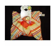 Doudou Plat Tigre Tigrou Disney Baby Nicotoy Simba Bleu Jaune Orange Multicolore Peluche Jouet Enfant Bebe Naissance