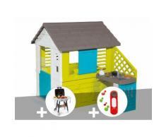 Cabane Enfant Pretty + Cuisine D'été - Smoby + Plancha + Sonnette