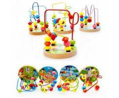 1pcs Mini Autour Des Perles Maze Fil Jouet Éducatif En Bois Pour Bébé Enfants (4 Types, Livraison Aléatoire)