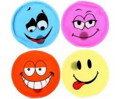 Set Lot 4 Mini Bouillotte Chaufferette Main Design Fun Forme Smiley