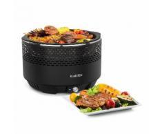 Klarstein Micro-Q 3131 Barbecue portable à charbon 4 personnes - pour camping en plein air et picnic - grille à 31cm + sac de transport