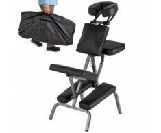 Chaise De Massage Tectake Noir + Sac De Transport