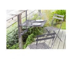 Table de balcon pliante Baltra Ardoise Jardin