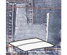 Kettler 0309003-8763 Coussin pour tabouret Gris clair Motif jean 48 x 48 x 3 cm