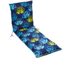 Kettler 0309504-8729 Coussin pour chaise longue motifs à fleurs Bleu/jaune 195 x 60 x 8 cm