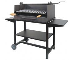 IMEX EL ZORRO 71539 Barbecue avec rehausseur Plateau Grille en Acier Inoxydable 61 x 40 x 100 cm Noir