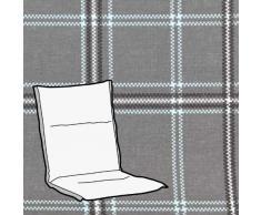 Kettler 0309407-8766 Coussin pour chaise longue avec repose-tête intégré Gris/vert à carreaux 110 x 48 x 6 cm