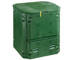 Dehner Composteur Thermique 420 L, env. 84 x 74 x 74 cm, Plastique, Noir/Vert