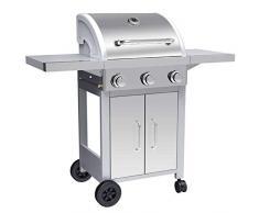 SILVER STYLE Barbecue à Gaz 3 Brûleurs, Noir