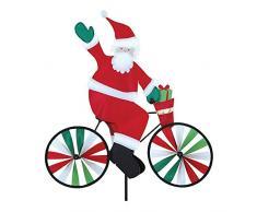Premier Kite PKBISAN_GPETIT Girouette Père Noel à Vélo, Multicolore, 52 x 8 x 110 cm