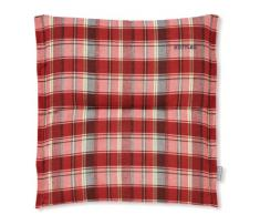 Kettler 0309403-8724 Coussin pour tabouret 50 x 50 x 7 cm (Carreaux dans les tons de rouge) (Import Allemagne)