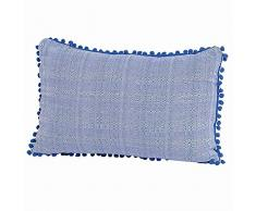 Madison 985194 Coussin Décoratif Coton Bleu 40 x 60 cm