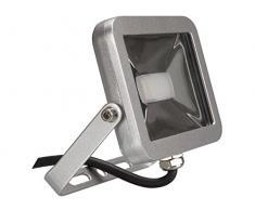 Perel Design LEDA401CW-SG Projecteur LED Argenté 10 W 19 x 6,5 x 14,5 cm