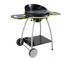 Cookin Garden Ch031T Barbecue Isy Fonte 3, Argent/Noir, 79X55X21 Cm