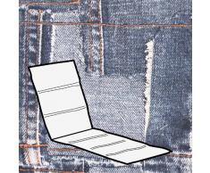 Kettler 0309004-8763 Coussin pour chaise longue Gris clair Motif jean 200 x 60 x 3 cm
