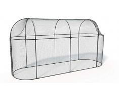 Haxnicks Cadre Cage de Protection pour Arbre fruitier - Longue - en Acier 200x100x150 cm Noir