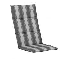 Kettler 0309004-8632 Coussin pour chaise longue Rayé anthracite/bleu 200 x 60 x 3 cm