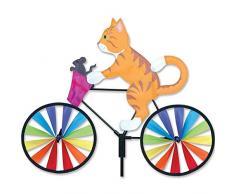 Premier Kite PK26853 Girouette Chat sur Vélo, Multicolore, 40,6 x 8 x 110 cm