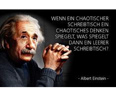 Schatzmix Plaque Murale en métal avec Inscription en Allemand Einstein Einstein Bureau Chaotique 20 x 30 cm