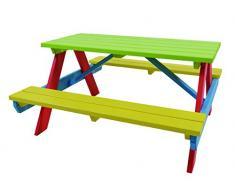 HILLHOUT 8711518635258 Table Enfant, Multicolore, 90 x 90 x 55 cm
