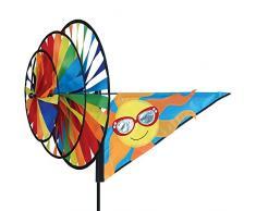 Premier Kite PKTSSUN Girouette Roue Triple Soleil, Multicolore, 65 x 43 x 127 cm