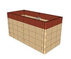 Juwel 20379 Extension pour carré Potager surélevé profiline Couleur Terre Cuite