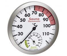 TFA-Dostmann Hygromètre analogique pour Sauna Thermique avec matériaux résistants à la Chaleur, température et humidité