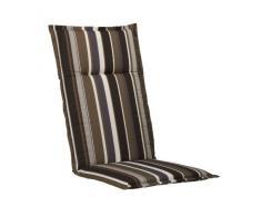 Kettler 0309205-8680 Coussin pour chaise cottage 100 x 50 x 6 cm (Marron rayé) (Import Allemagne)