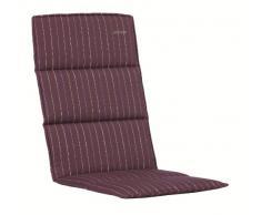 Kettler 0308404-8630 Coussin pour chaise longue à roulettes 200 x 60 x 3 cm (Rouge foncé rayé)