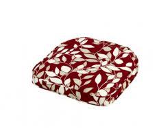 IM LEISURE Marbella Coussin rectangulaire en matières Mixtes Motif Feuilles Rouge