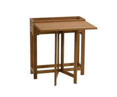 greemotion Borkum Table de Balcon, Acacia, Naturel
