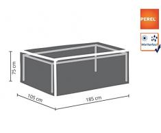 Perel Garden oct180 Housse de Protection pour Table de Jardin de Maximum 180 cm, Anthracite, 185 x 105 x 75 cm