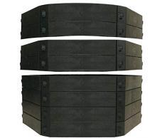 KHW Composteur Rapide Composteur Jeu de Construction, 250 L, Noir
