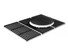 Enders Switch Grid Neu, Grille en Fonte pour Barbecue au gaz Kansas Turbo Noir Switch Grid Grille en Fonte Kansas 3 Kansas 3 44.5 x 59.5 x 1 cm Noir