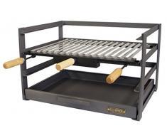 IMEX EL ZORRO 71477.0 tiroir Barbecue avec Grille, Noir, 46 x 41 x 35 cm