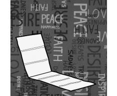 Kettler 0309004-8575 Coussin pour chaise longue Gris clair Motif écritures 200 x 60 x 3 cm