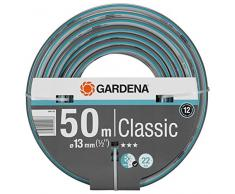 Tuyau GARDENA Classic 13 mm (1/2 ), 50 m: Tuyau de jardin universel en tissu croisé robuste, pression déclatement de 22 bars, résistant à la pression et aux UV (18010-20).