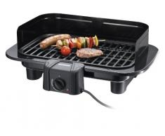 Severin PG 8525 Barbecue Electrique Grille Fonte 2300 W Noir