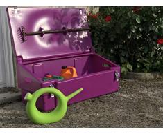 Coffre de rangement + cadenas multiusage intérieur/extérieur 100L - Couleur : violet - Fabrication française