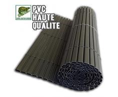 ECG Canisse PVC double face Marron 300 x 0.5 x 100 cm
