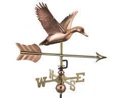 Good Directions Flying Duck avec flèche Jardin Girouette en cuivre Pur avec Jardin Pole Canard Volant avec flèche Pure Copper with Garden Pole