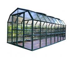 Palram Rion Serre de Jardin Grand Gardener® – Toit en Polycarbonate translucide et Murs Transparents -Verte