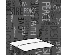 Kettler 0309003-8575 Coussin pour tabouret Motif écritures Gris clair 48 x 48 x 3 cm