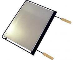 IMEX EL ZORRO 71603 Plaque INOX pour Barbecue 62 x 41 cm Gris