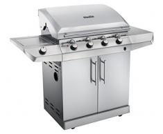 Char-Broil Série Performance T47G - barbecue grill avec 4 brûleurs à gaz et technologie TRU-Infrared, finition en acier inoxydable