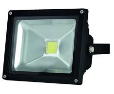 Perel Projecteur LED pour Le außenbereich, Puce Epistar 20 W, 3000 K, 18,5 x 15,5 x 11,5 cm, Noir, leda3002ww/B