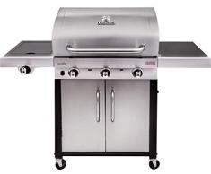 Char-Broil Performance Series 340S - Barbecue à gaz à 3 brûleurs avec système de cuisson TRU-Infrared, finition en acier inoxydable.